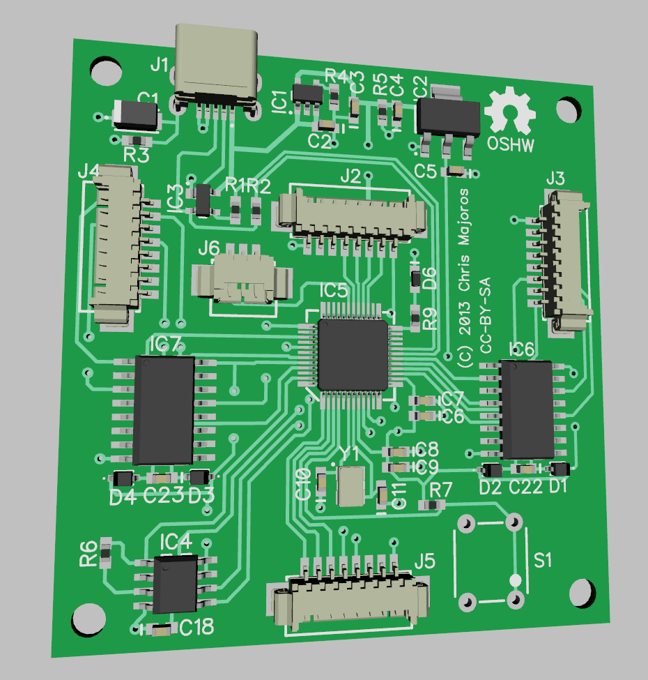 Main board 3D rendering