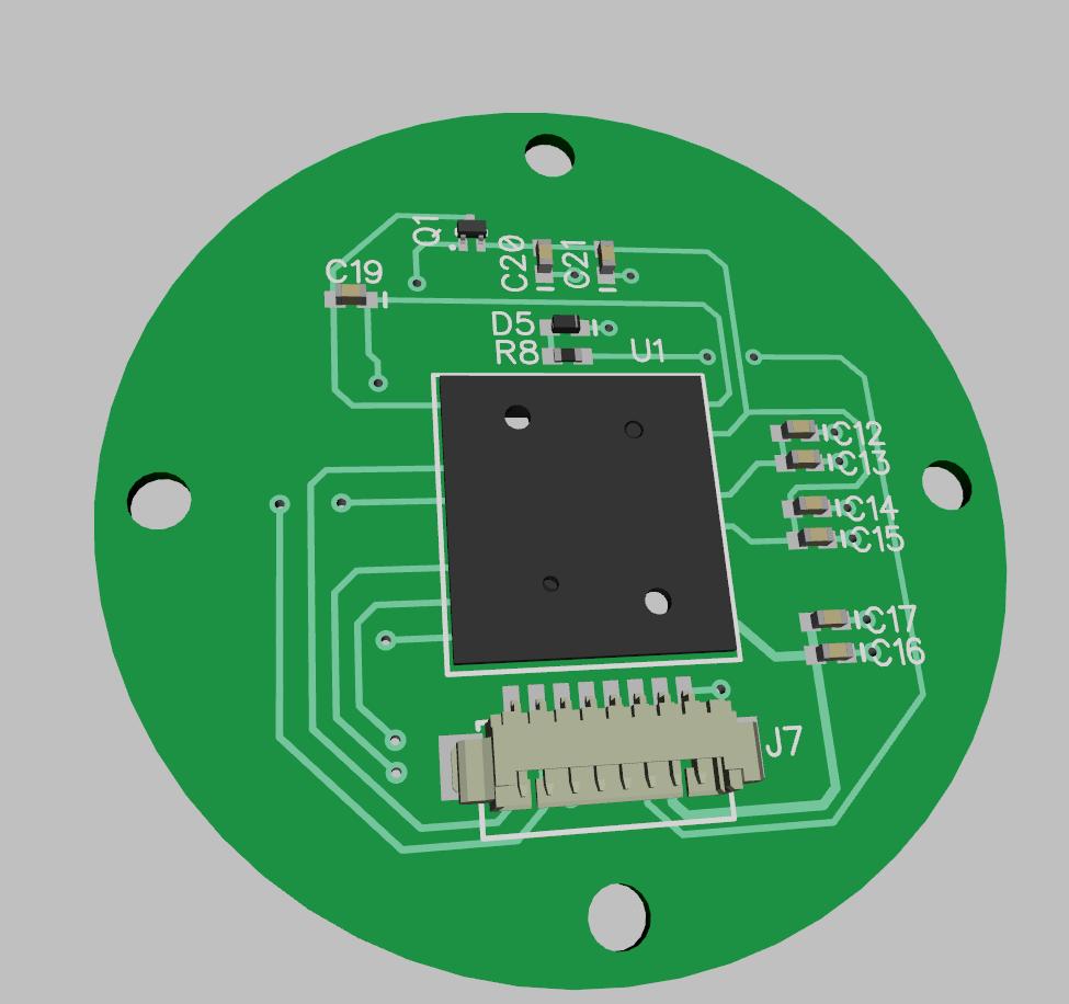 Sensor top 3D rendering