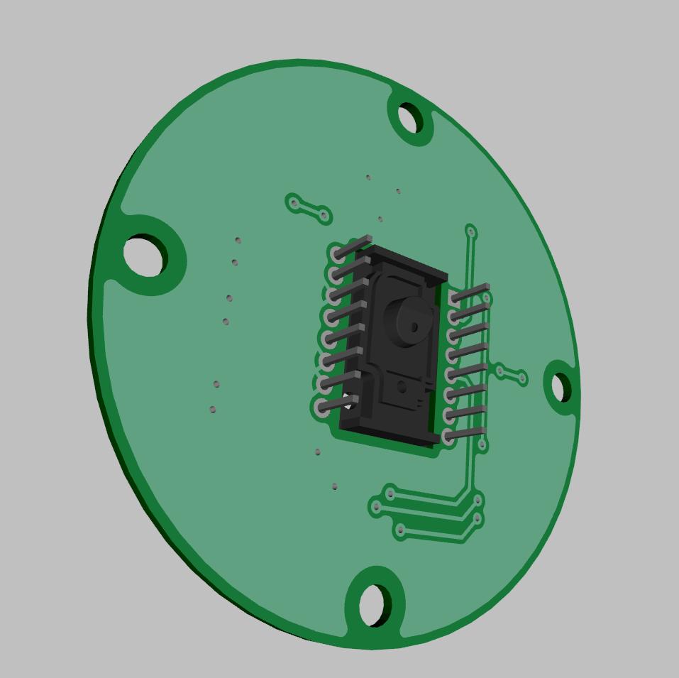 Sensor bottom 3D rendering